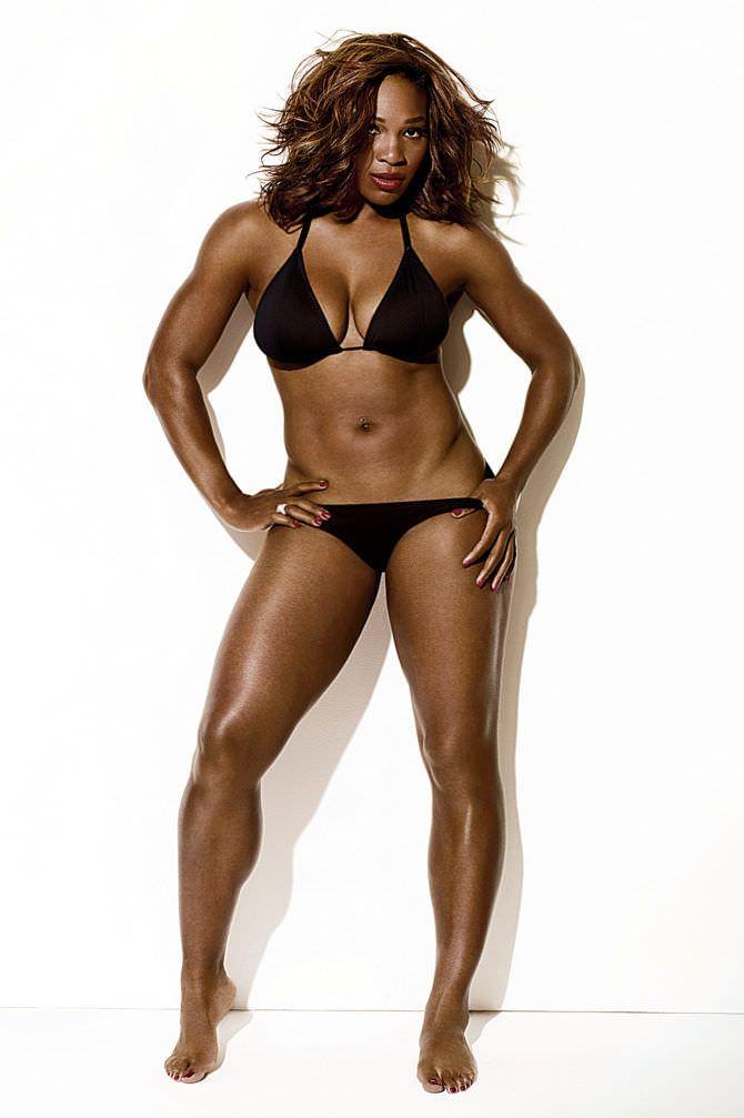 Серена Уильямс фото в чёрном бикини