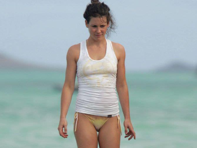 Эванджелин Лилли фотография на пляже