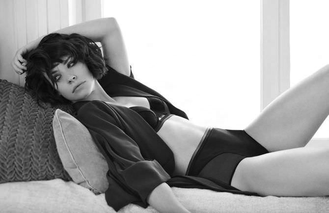Эванджелин Лилли фотография в журнале в нижнем белье