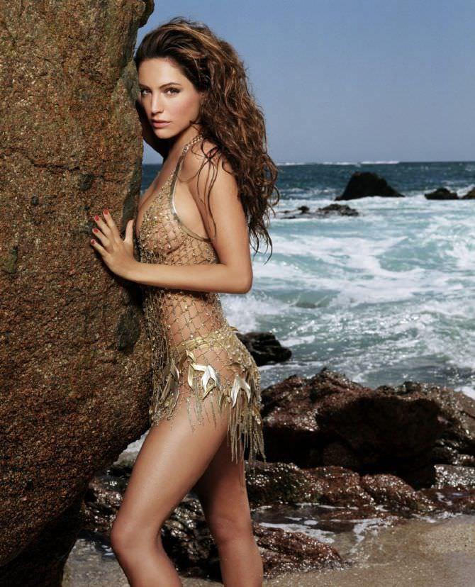 Келли Брук фото в блестящем купальнике
