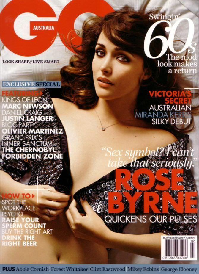 Роуз Бирн фото на обложке журнала