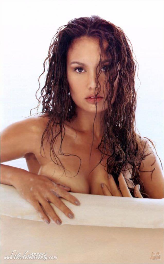 Тиа Каррере фотография с мокрыми волосами