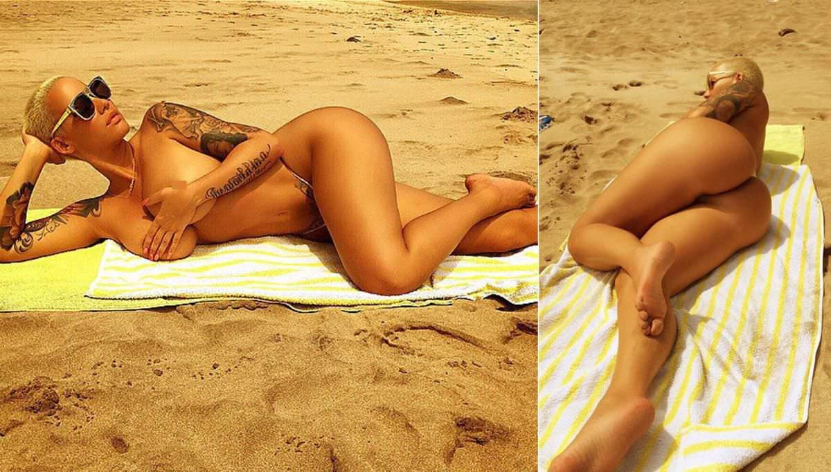 Amber rose fakes nude — photo 3