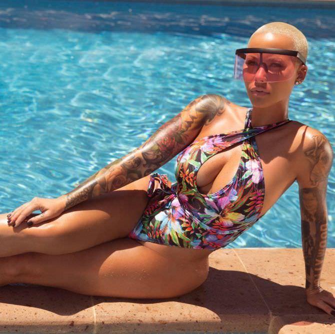 Эмбер Роуз фото в купальнике в инстаграм