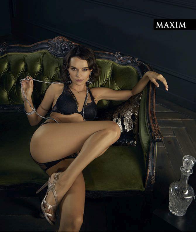 Юлия Подозёрова фото в журнале в белье