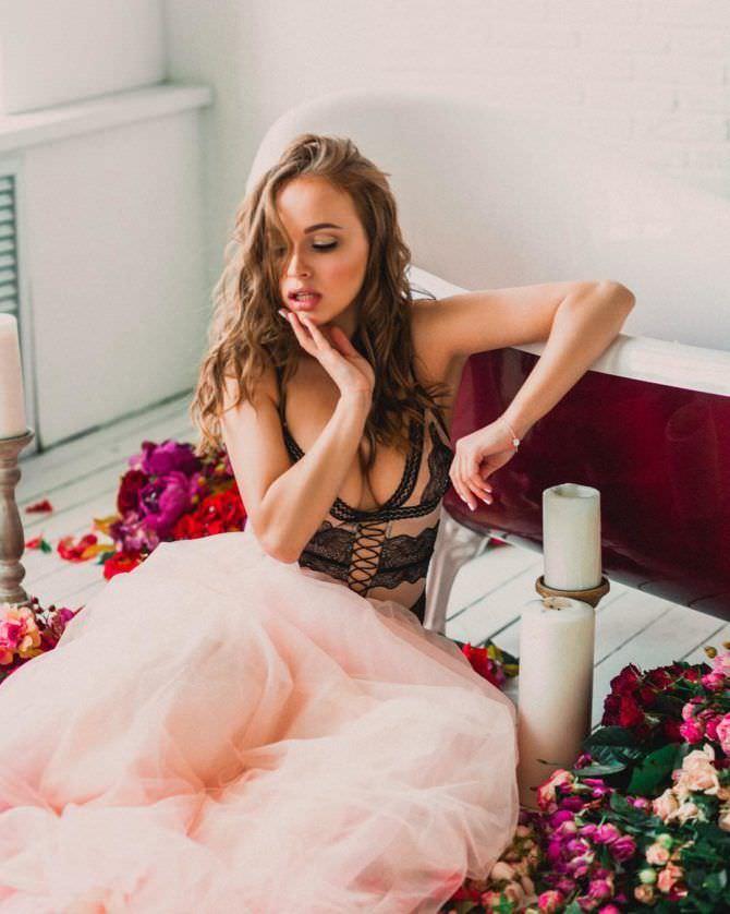 Александра Лукьянова фотосессия с цветами