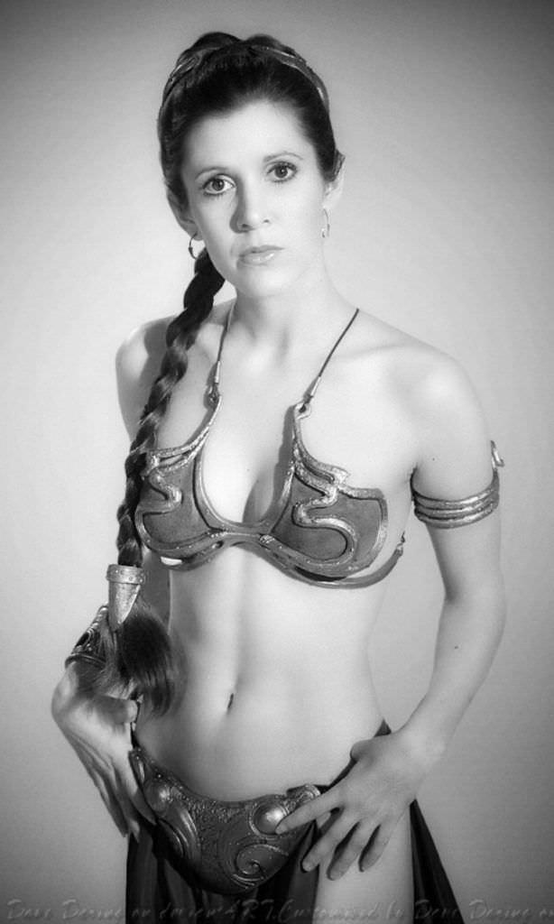 Кэрри Фишер фото с косой