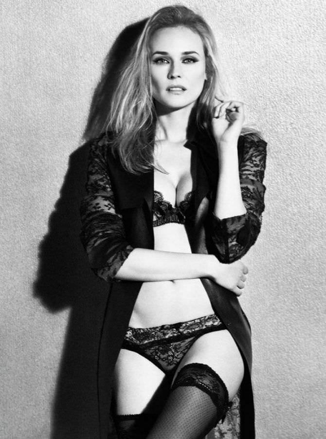 Диана Крюгер фотография в нижнем белье в журнале