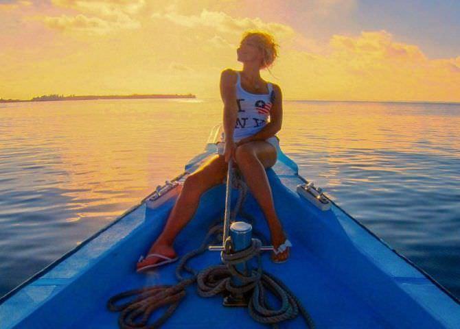 Виктория Лукина фотография на лодке