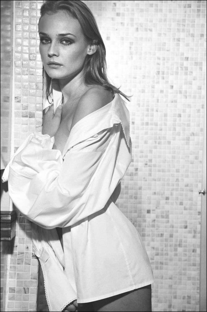 Диана Крюгер фото в белой рубашке