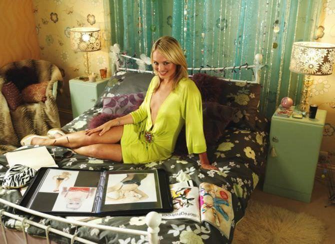 Лора Хэддок фотография в салатовом платье