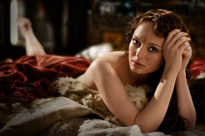 Лора Хэддок фото с пледом