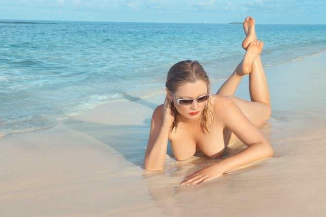 Лена Ленина фото на пляже в очках