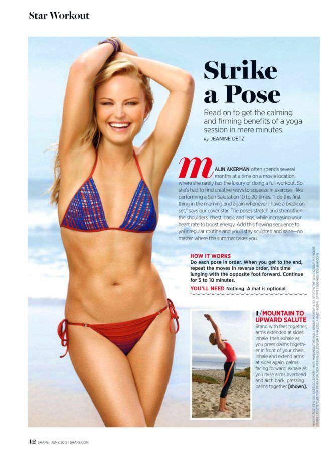Малин Акерман фото в бикини из журнала