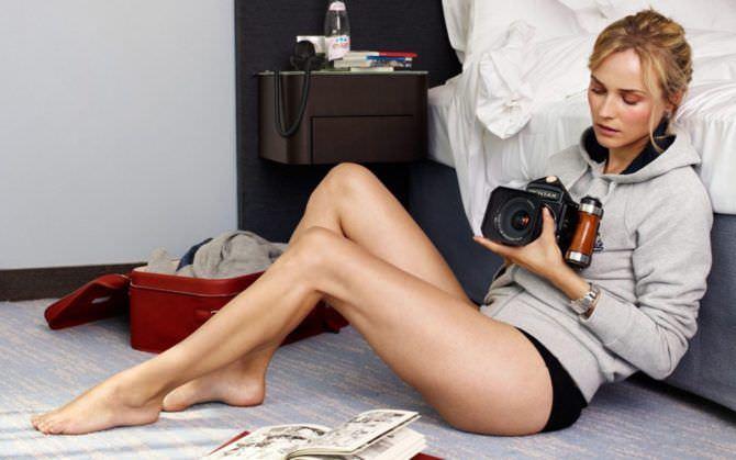 Диана Крюгер фотография с камерой