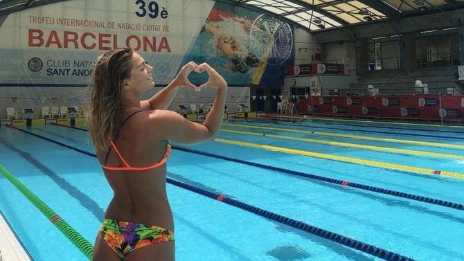 Юлия Ефимова фотография в бассейне для трненировок