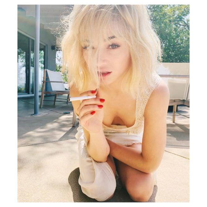 Кристал Рид фото со светлыми волосами