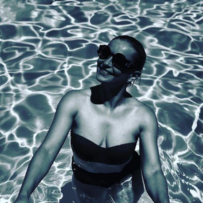Юлия Пересильд чёрно-белое фото