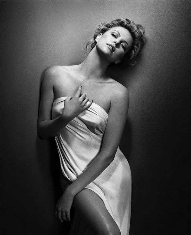 Шарлиз Терон чёрно-белая фотосессия GQ 2012