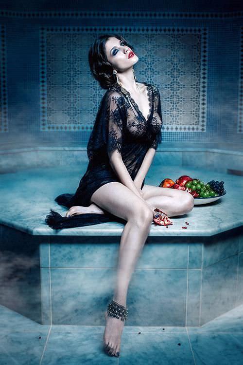 Анна Чиповская фото для gq в бане
