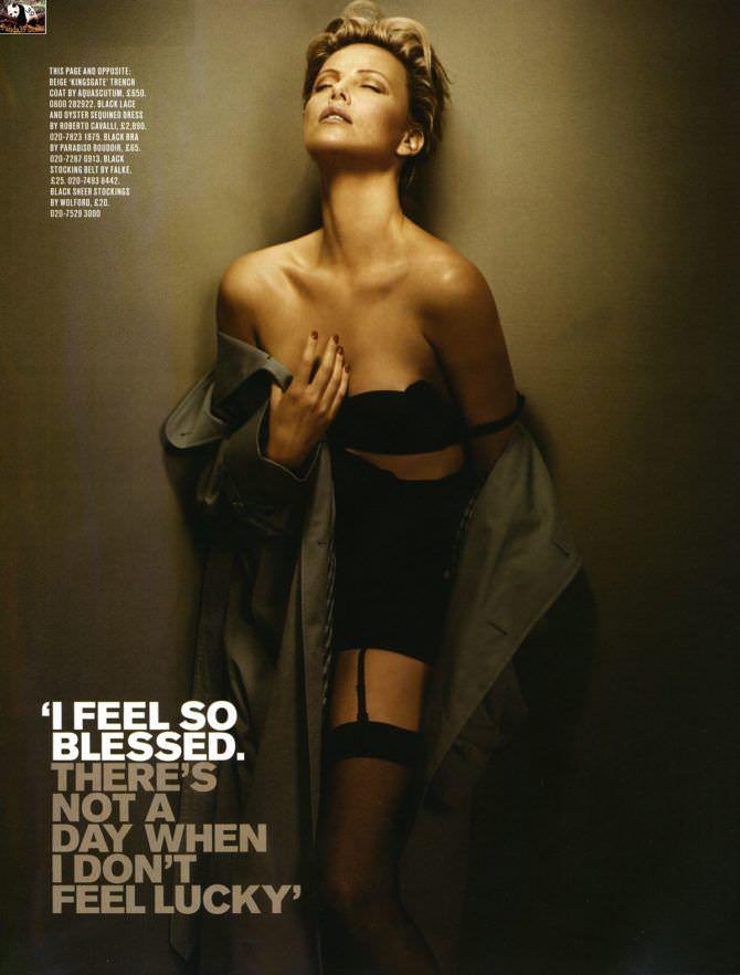 Шарлиз Терон фото в журнале 2012 в нижнем белье
