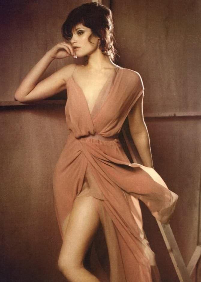 Джемма Артертон фото в коричневом платье