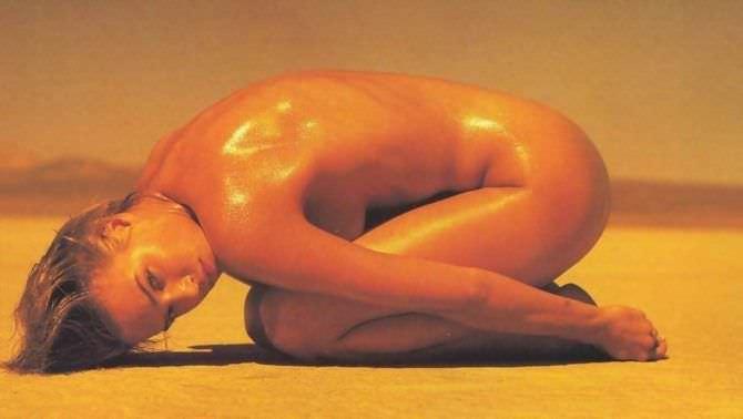 Эмма Сьоберг фото в масле без одежды