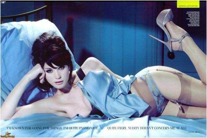 Джемма Артертон фото 2010 в журнале в белье