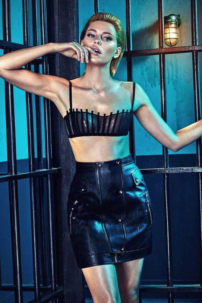 Элизабет Бэнкс фотосессия в чёрном костюме