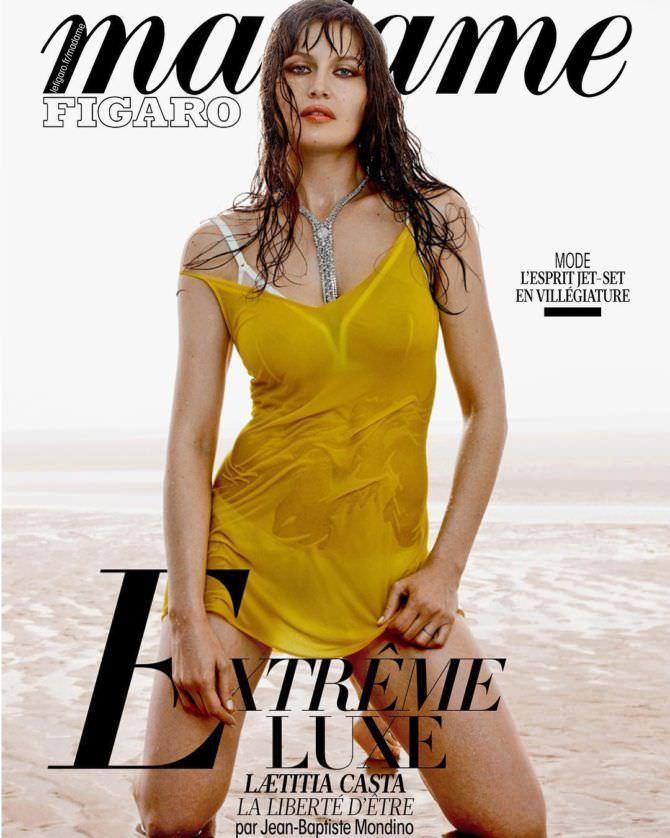 Летиция Каста фото в жёлтом платье