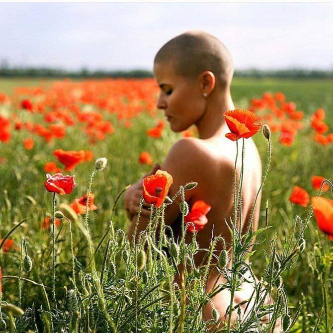 Марина Вовченко фото в маковом поле