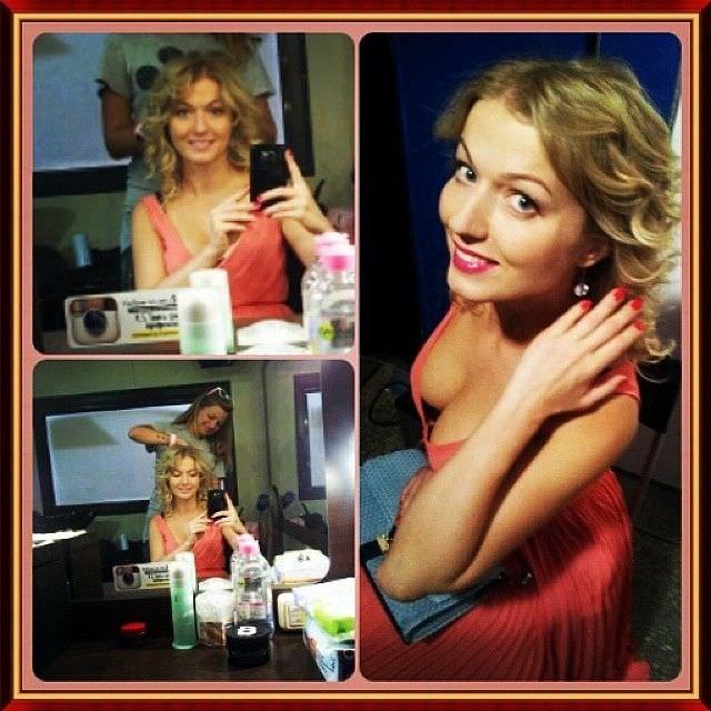 Виктория Герасимова фотографии в красном платье