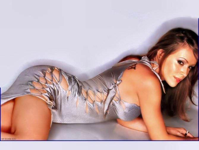 Алисса Милано фото в блестящем платье
