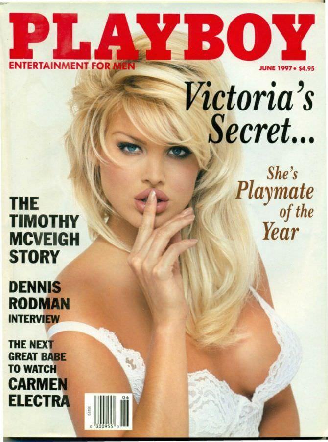 Виктория Сильвстедт фото обложки журнала плейбой 1997