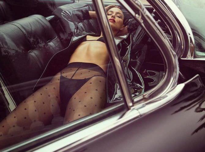 Ирина Шейк фотосессия в автомобиле