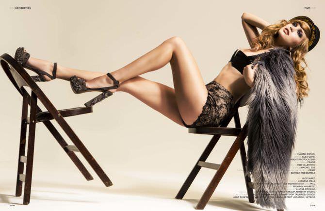 Алексия Фаст фото с лестницами в журнале