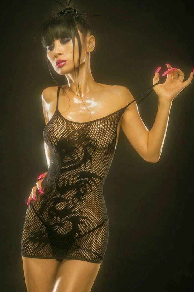 Бай Лин фотография в прозрачном платье