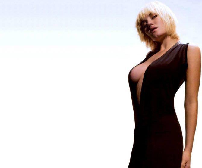 Элиша Катберт фото в чёрном платье