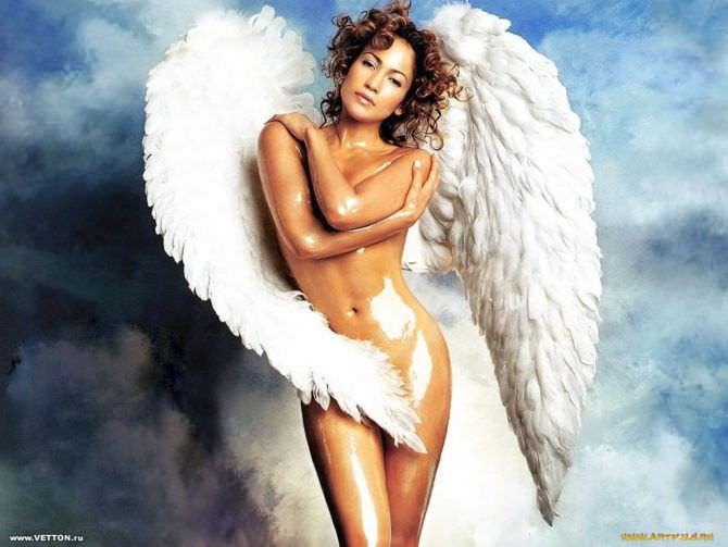 Дженнифер Лопес фото в образе ангела