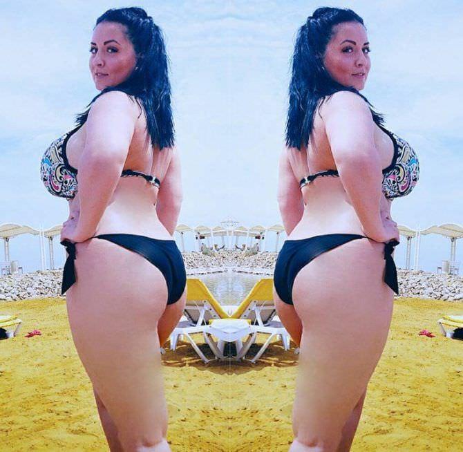 Рима Пенджиева фото сбоку в бикини