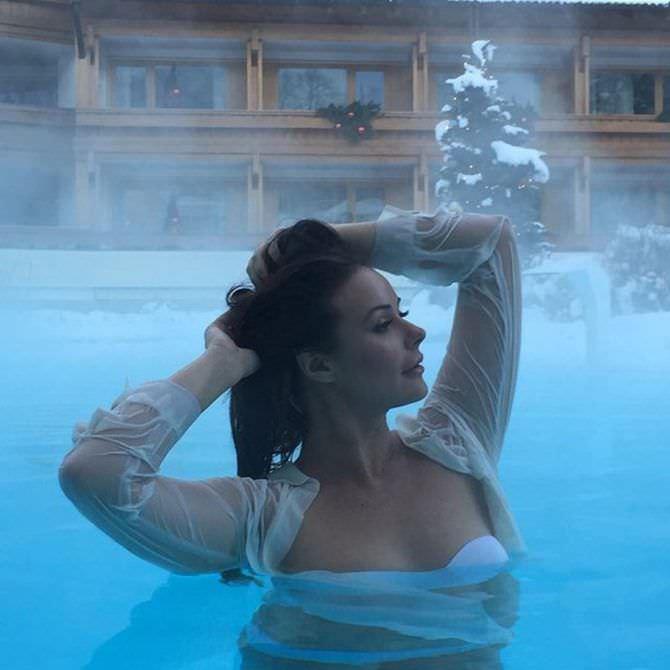 Оксана Фёдорова фото зимой