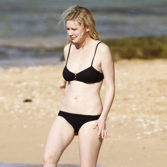 Кирстен Данст слитое фото на пляже
