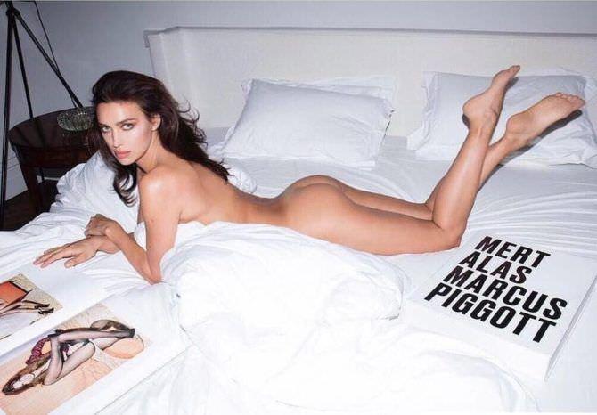 Ирина Шейк откровенное фото на кровати