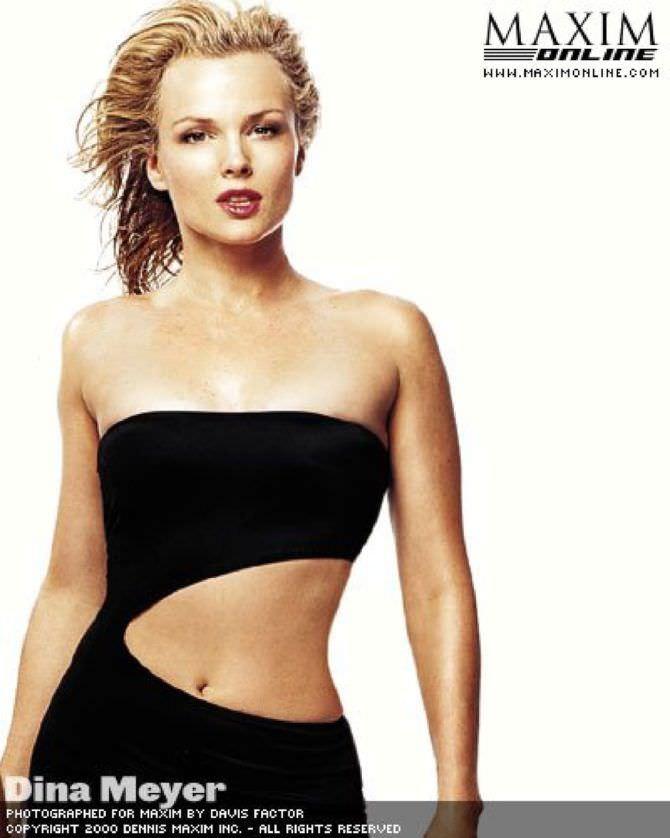 Дина Мейер фотов платье для журнала