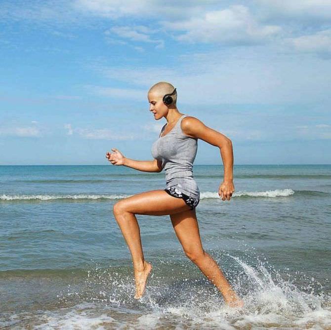 Марина Вовченко фотография во время бега