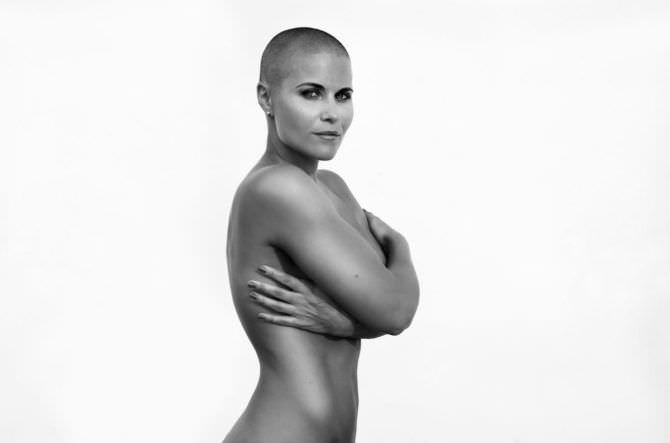 Марина Вовченко чёрно-белая фотосессия без одежды