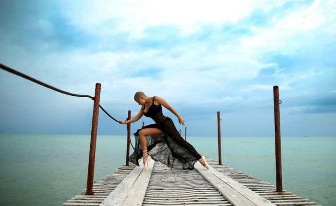 Марина Вовченко фотография в чёрном платье