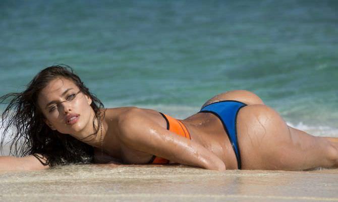 Ирина Шейк фото в купалньике на пляже