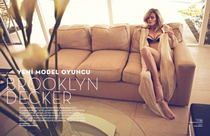 Бруклин Деккер фотография в журнале в белье