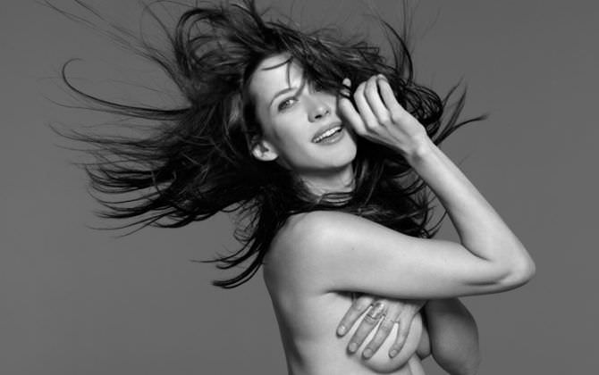 Софи Марсо фотография с растрёпанными волосами